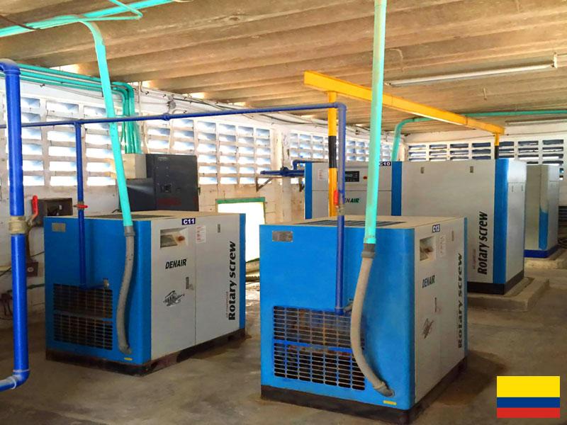 DENAIR Sistema de compresores de aire para la industria farmacéutica