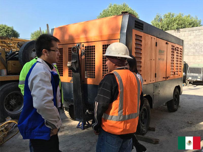 DENAIR 777 CFM 20bar Portátil Diesel Compresor de Aire de tornillo en México