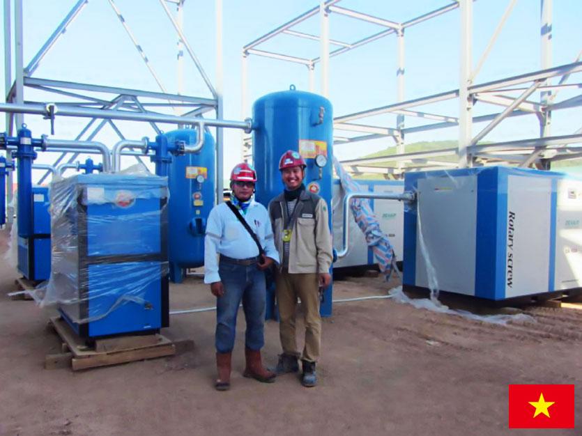 DENAIR Compresor de Aire de Tornillo para Refinería de Petróleo en Vietnam