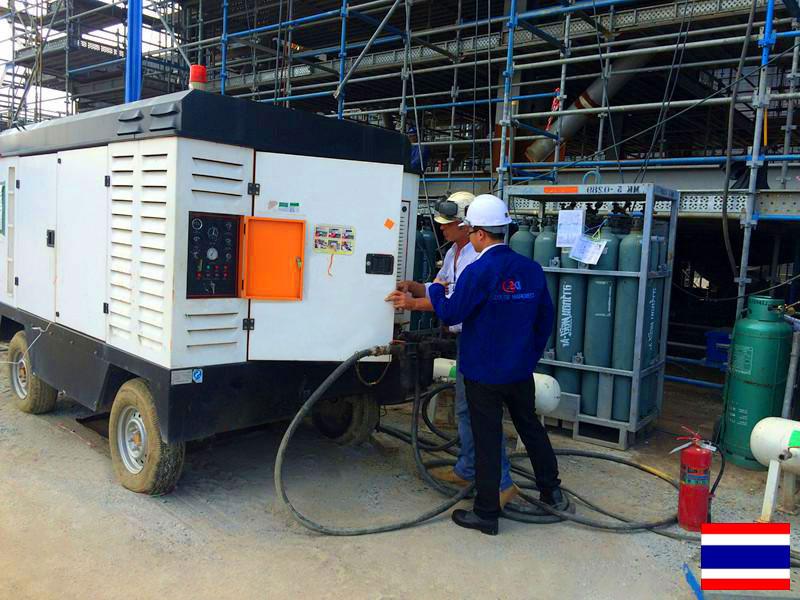 DENAIR Compresor de aire de tornillo portátil diesel para Revestimiento en Tailandia