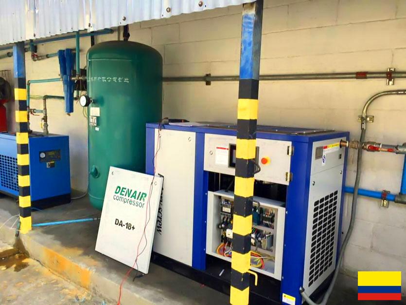 DENAIR Compresor de aire de ahorro energético mejorado en Colombia