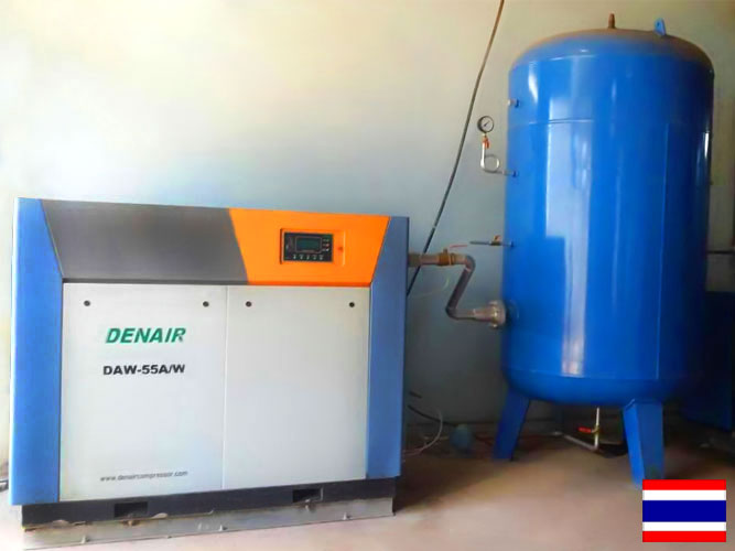 DENAIR Compresores de aire libre de aceite están funcionando en Bangkok