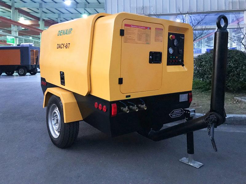 DENAIR NUEVO compresor de aire portátil diesel de doble etapa ultra-eficiente